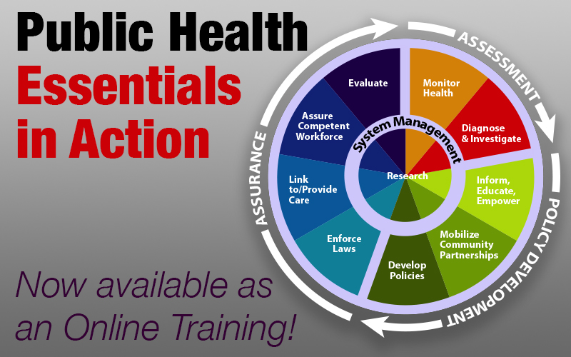 Public Health Essentials in Action now available as an Online Training!