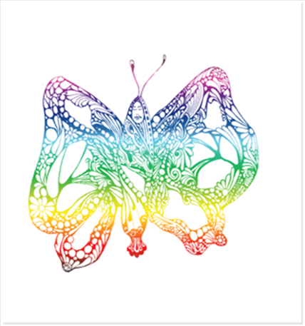 Illustrated butterfly image