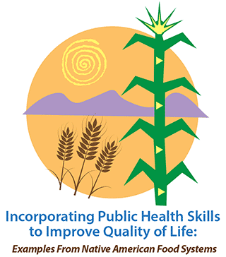 Conference logo simplified graphics elements of sun, cactus, mountains, and wheat stalks